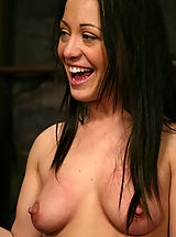 Hard Nipples, Kylee King is bound and her huge nipples tortured