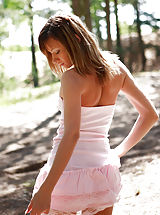 As a matter of fact, lovely teen loves this place, because she feels totally free here to pose for you.
