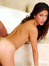 Small Boobs, Ariana Fox,My Sister's Hot Associate Glide, Ariana Fox, Sister\'s Friend, Bathroom, Bathtub, Butt licking, Butt smacking, Huge Dick, Blow Job, Brunette, High Heels, Natural Boobs, Petite, Piercings, Shaved, Small Boobs,