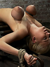 19yr old with HUGE natural E breasts, has her tits severely bound and made to cum past the breaking point! All the begging, screaming is sweet music.