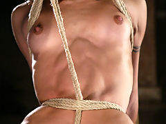Hard body meets tight rope and screaming orgasms