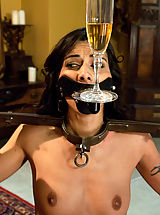 Hard Nipples, Hot french maid in bondage, domination and anal sex!
