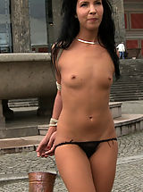 LittleTits, Euro babe gets more than she bargained for when she is tied up, helpless, and exposed on the streets